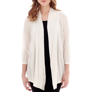 jcpenney.com | Alyx® 3/4-Sleeve Open-Front Cardigan Sweater Cozy