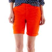 Stylus™ Twill Bermuda Shorts - Petite