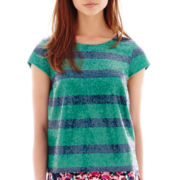 I 'Heart' Ronson® Short-Sleeve Sequin-Striped Top