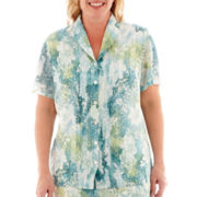 Alfred Dunner® Sweet Melody Short-Sleeve Paisley Blouse - Plus