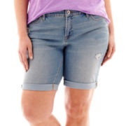 Stylus™ Denim Bermuda Shorts - Plus