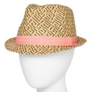 Mixit™ Two-Tone Straw Fedora