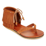 MIA girl Fringe Thong Sandals