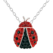 Ladybug Crystal-Accent Necklace