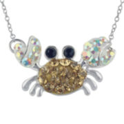 Crab Crystal-Accent Necklace