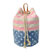 Arizona Audrey Stars & Stripes Duffle Backpack