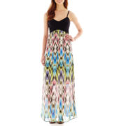 nicole by Nicole Miller® Sleeveless Scuba Bodice Maxi Dress