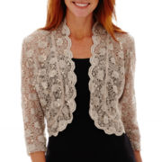 R&M Collection Lace Bolero Shrug One-Piece Dress