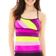 Nike® Tech Stripe Racerback Tankini Swim Top