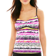 Nike® Static Stripe V-Back Tankini Swim Top
