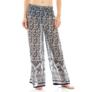 Raviya Border Print Cover-Up Beach Pants