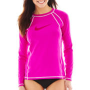 Nike® Long-Sleeve Hydro Rashguard Swim Top
