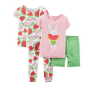 Carter's® 4-pc. Pajama Set – Preschool Girls 4-7