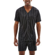 Stafford® Short-Sleeve Micro-Knit Pajama Set