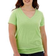 Arizona Short-Sleeve V-Neck T-Shirt - Plus