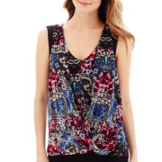 nicole by Nicole Miller® Sleeveless Print Wrap Top