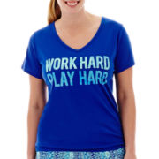 Xersion™ Short-Sleeve High-Low Graphic T-Shirt - Plus