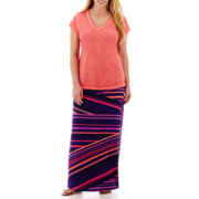 a.n.a® V-Neck Slub T-Shirt or Maxi Skirt - Plus