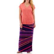 a.n.a® V-Neck Slub T-Shirt or Maxi Skirt - Plus