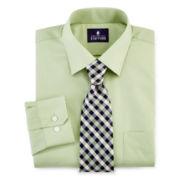 Stafford® Easy-Care Dress Shirt & Tie Set–Big & Tall