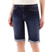 St. John's Bay® Secretly Slender Denim Bermuda Shorts