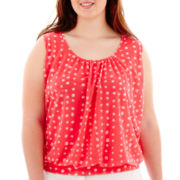 Worthington® Sleeveless Banded Top - Plus