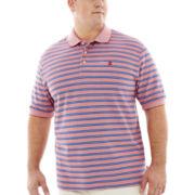 IZOD® Oxford Stripe Piqué Polo–Big & Tall