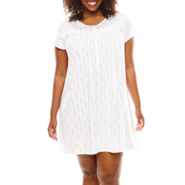 jcpenney.com | Earth Angels® Short-Sleeve Nightgown - Plus