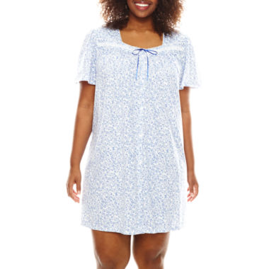 jcpenney.com | Earth Angels® Flutter-Sleeve Nightgown - Plus