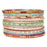 Decree® Gold-Tone 15-pc. Bangle Bracelet Set