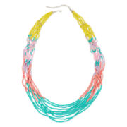 Decree® Seed Bead Silver-Tone Long Necklace