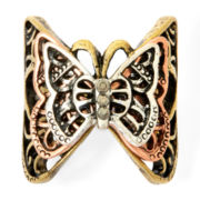 Decree® Silver-Tone Butterfly Ring
