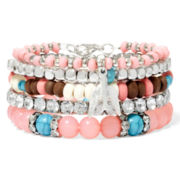 Arizona Multicolor 5-pc. Stretch Bracelet Set