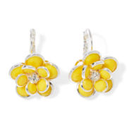 Mixit™ Yellow Silver-Tone Flower Earrings