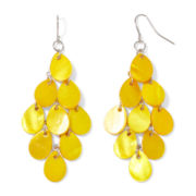 Mixit™ Yellow Shell Silver-Tone Kite Earrings