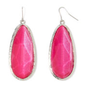 Mixit™ Silver-Tone Large Pink Drop Earrings
