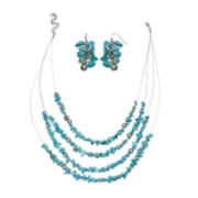 Mixit™ Aqua 4-Strand Necklace and Earrings Set
