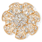 Mixit™ Crystal and Gold-Tone Flower Pin