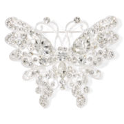 Mixit™ Crystal and Silver-Tone Butterfly Pin