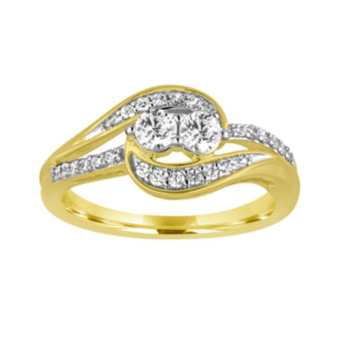 jcpenney.com | Two Forever™ ½ C.T. TW. Diamond 10K Yellow Gold Ring