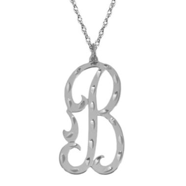 jcpenney.com | Personalized Diamond-Cut Initial Necklace