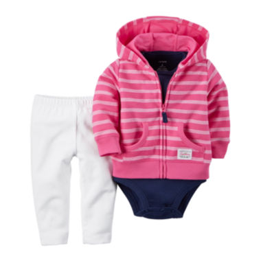 jcpenney.com | Carter's® 3-pc. Cardigan, Bodysuit and Pants Set - Baby Girls newborn-24m