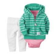 Carter's® 3-pc. Cardigan, Bodysuit and Pants Set - Baby Girls newborn-24m