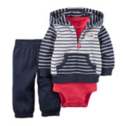 Carter's® 3-pc. Cardigan, Bodysuit and Pants Set - Baby Boys newborn-24m