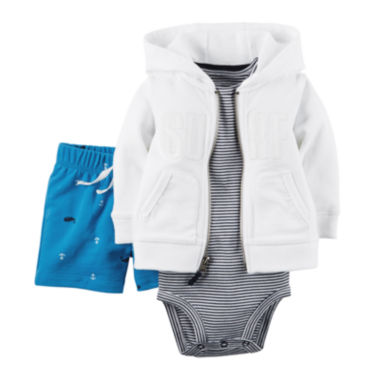 jcpenney.com | Carter's® 3-pc. Cardigan, Bodysuit and Pants Set - Baby Boys newborn-24m