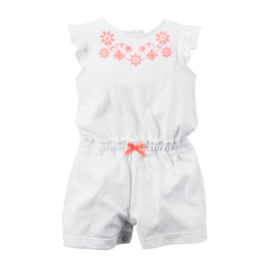 jcpenney.com | Carter's® Sleeveless White Romper - Baby Girl newborn-24m