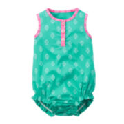 Carter's® Sleeveless Mint Romper - Baby Girl newborn-24m