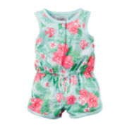 Carter's® Sleeveless Tropical Floral Print Romper - Baby Girl newborn-24m