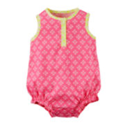Carter's® Sleeveless Pink Romper - Baby Girl newborn-24m