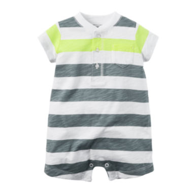 jcpenney.com | Carter's® Short-Sleeve Striped Romper - Baby Boys newborn-24m